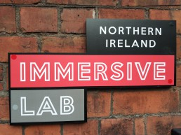Signage for Immersive Lab NI