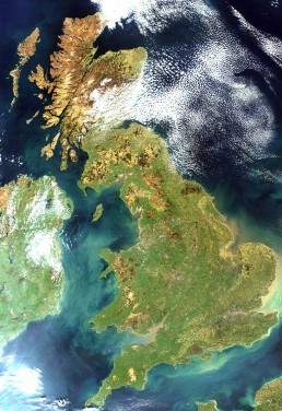 Satellite image UK