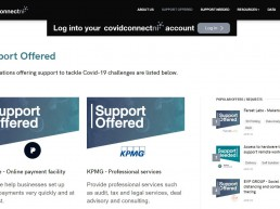 Screenshot of Covid Connect NI website